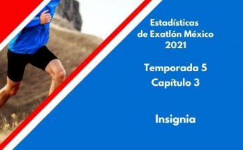 Estadísticas de Exatlón México 2021, Temporada 5, Capítulo 3, Insignia del Exatlón, Miércoles 18 de agosto 2021
