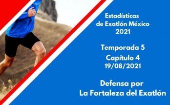 Estadísticas de Exatlón México 2021, Temporada 5, Capítulo 4, Primera defensa por La Fortaleza del Exatlón, Jueves 19 de agosto 2021