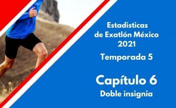 Estadísticas de Exatlón México 2021, Temporada 5, Capítulo 6, Doble insignia del Exatlón, lunes 23 de agosto 2021