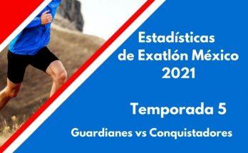 extadisticas de exatlon méxicó 2021, temporada 5